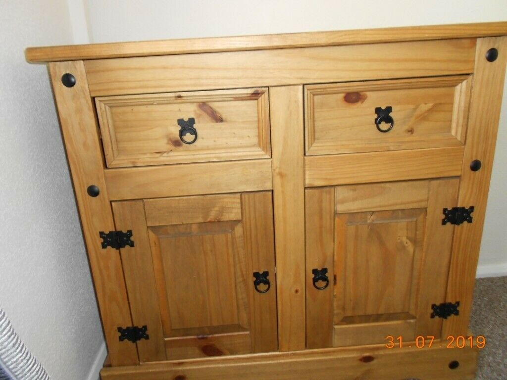 new concept 32408 f3d6a Sideboard by B&M Solid waxed pine, 2 x door 2 x drawer | in Ferryhill,  County Durham | Gumtree