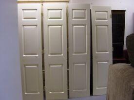 Set of 4 Interior White Closet or Wardrobe Doors