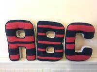 Handmade crochet ABC letters