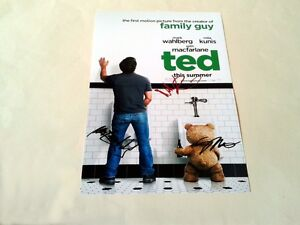 TED-CAST-X3-PP-SIGNED-12-X8-POSTER-MARK-WAHLBERG-SETH-MACFARLANE