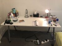 White IKEA desk, excellent condition, disassembled