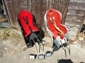 2 x Hamax bike seats with 3 x bike fixings