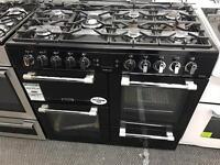 New Graded Leisure 100cm Duel Fuel Range Cooker - Black
