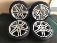 Genuine 18 amg Mercedes alloy wheels