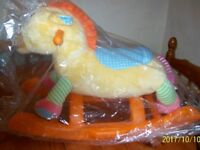Vetec Baby's first rocker which removes to become cuddle toy Horse sound effect
