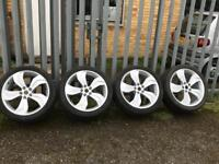 """Original Vauxhall Astra VXR 19"""" wheels with tyres"""