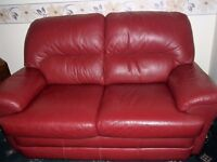 Moroccan Red Leather Sofa