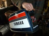Yamaha 25hp two stroke outboard with remote cables