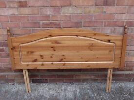 Pine Headboard.Double bed size.