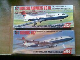 2X AIRFIX KITS MODELS BRITISH AIRWAYS VC10 & BOEING 707