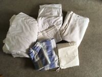 Cot fitted sheets, duvet, and duvet covers etc