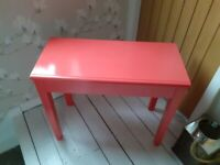 Girls pink wooden desk with lift up lid and storage