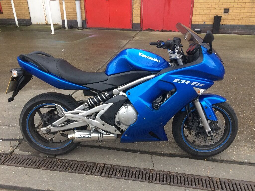 kawasaki er6f 2007 blue in romford london gumtree. Black Bedroom Furniture Sets. Home Design Ideas