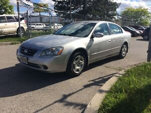 2004 Nissan Altima 125KM,SAFETY+3YEARS WARRANTY INCLUDED