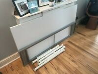 Ikea Galant 160mm x 80mm white desk with adjustable legs