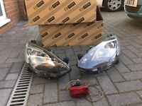 Front Head Lights and Fog Light for Mazda 2 2010
