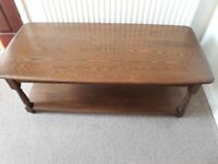 Ercol coffee table (possibly oak)good condition 115cms long, 53 wide and 43 high