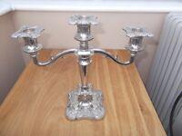 Silver plate candelabra