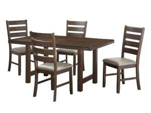 Solid Wood Dining Set with 4 Chairs (KA215)