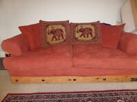 Free 3 piece suite - 1x 3 seater sofa, 1x 2 seater sofa and an armchair. Used, plenty of life left