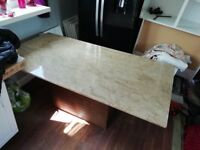 Marble table and chairs rrp over 3k