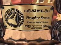 Mapex Precious Metal Phosphor Bronze Hammered Snare. Ltd Edition No: 214. Rare