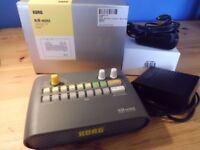Korg KR Mini drum machine + footswitch + power supply adaptor
