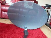 New sky dish with quad lnb