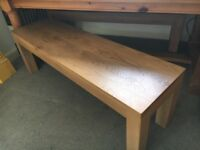 Two beautiful Belgica solid oak benches