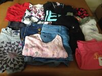 Girls clothes ages 10-11, 13 items all dog condition
