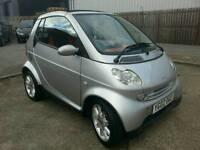 2002 SMART CITY-CABRIOLET 5 SPEED SEMI AUTO. VERY CLEAN CAR. MOT till SEPT