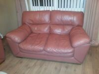 2 X 2 SEATER LEATHER SOFAS