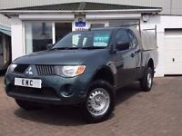 2008 08 Mitsubishi L200 2.5DI-D 4WD Club Cab 4Work~LOW MILES~NO VAT~NO VAT