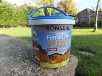 Ronseal Fence Life Plus - Harvest Gold - Protection for sawn or planed wood