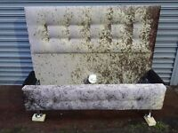 4 ft 6 DOUBLE CRUSH VELVET BED GLITZ HAND MADE WITH DIAMANTE IN HEADBOARD AND FOOT BOARD £149