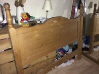 Double head board for sale pine collection only