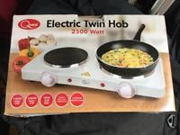 Electric twin hob 2500 watt