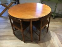 Retro mid century McIntosh extending dining table and chairs