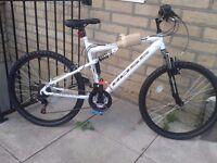 New BOSS Astro Men's Full Suspension Mountain Bike - White, 26 Inch RRP £255