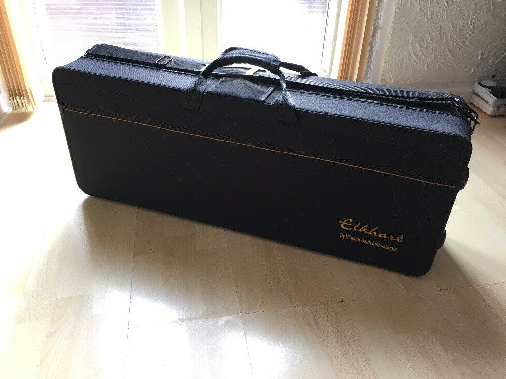Elkhart 100TS Tenor Sax Saxophone with 3 reeds, harness, mute, pad saver, crook mop and mouthpiece