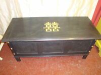 Stunning Vintage Storage Chest With Chinese Double Happiness Symbol