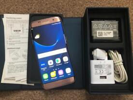 Samsung galaxy S7 edge 32GB, unlocked, rose gold, good condition, full working.