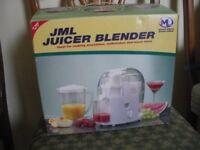 JML Juicer Blender, Blends milkshakes, Juices fruit, Grinds coffee beans , chops nuts, & much more