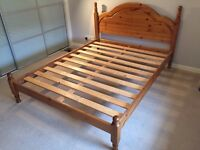 King Size Bed Frame, antique pine