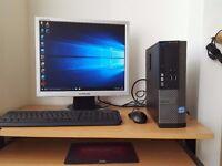 Fast Dell Desktop Computer Quad Core Processor Wifi Windows 10 Office 4GB RAM