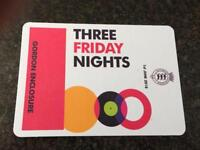 Goodwood Rudimental three Friday night Gordon enclosure tickets 1st June