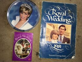 Charles & Diana Royal Wedding memorobilia