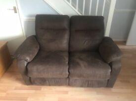 2seater brown sofa