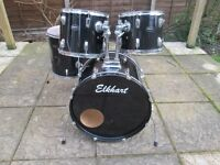 Drums - Black Drum Kit - Shell Pack - Good Condition