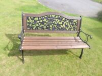 Cast Iron Garden bench 4ft long Strong and sturdy